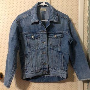 NWOT madewell short denim jacket